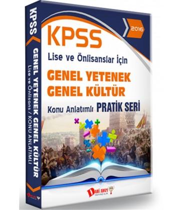 KPSS Lise Önlisans Genel Kültür Genel Yetenek Konu Anlatımlı Pratik Seri Dahi Adam Yayınları