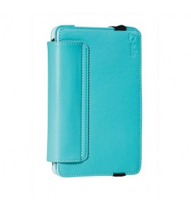 "Eye-q EQ-LTAB7TRQ 7"" Universal Faux Leather Tablet Case Cover Turquoise"