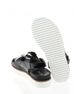 Pierre Cardin PC-2037 430 Rugan Siyah Sandalet