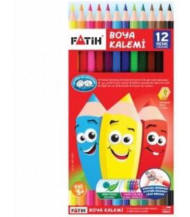 Fatih Boya Kalemi 12 Renk Tam Boy
