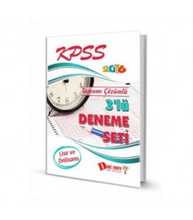 Kpss 2016 Lise Ön Lisans 3 Lü Deneme Seti - Dahi Adam