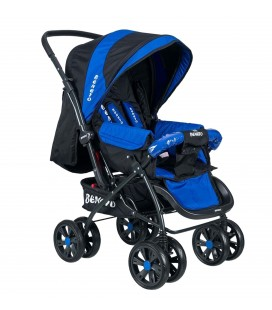 Beneto BT-555 Aero Çift yönlü Bebek Arabası Saks Mavi
