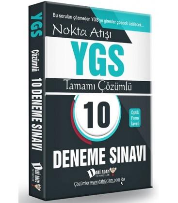 YGS Nokta Atışı Tamamı Çözümlü 10 Deneme Sınavı Dahi Adam Yayınları