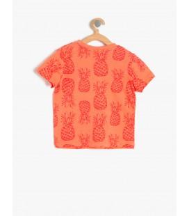 Koton Rahat Kesim, Kısa Kollu, Baskılı, Bisiklet Yaka T-Shirt  7YMB18762GK01C