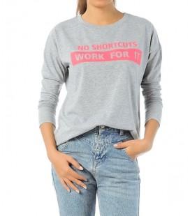 Hummel Bayan Baskılı Tişört T08016-2006 Pinky Ls Tee