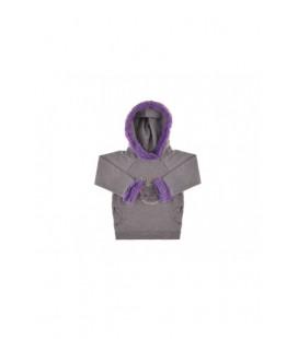 BG Baby Kız Bebek Koyu Gri S-Shirt 3636BBG2409