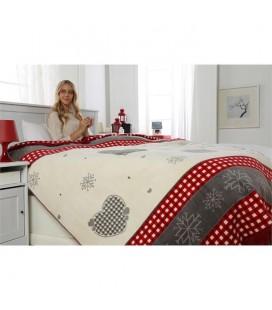 Özdilek Çift Kişilik Battaniye Pamuklu Inventive Kırmızı 180X220