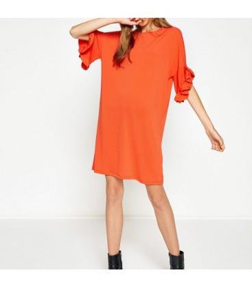 Koton Fırfır Detaylı Elbise 8KAK83066EK404