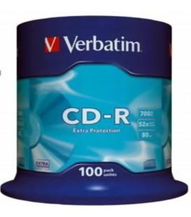 Verbatim CD-R 700 Mb 52x 80 Min  100Lü Paket
