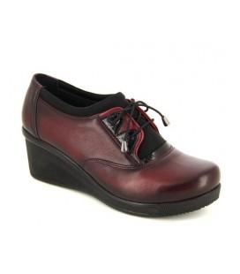 Kadın Bordo Deri Oxford Ayakkabı 4128560214300