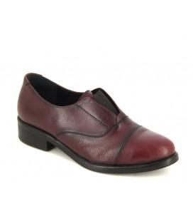 Kadın Bordo Deri Oxford Ayakkabı 4678242114200