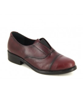 ProvoQ Kadın Bordo Deri Oxford Ayakkabı 4678242114200