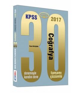2017 KPSS Coğrafya 30 Çözümlü Deneme Yediiklim Yayınları