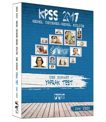 2017 KPSS Genel Yetenek Genel Kültür Çek Kopart Yaprak Test Yediiklim Yayınları