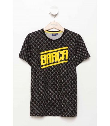 Defacto Barcelona Lisanslı Genç Erkek T-shirt H2299A617SMBK27