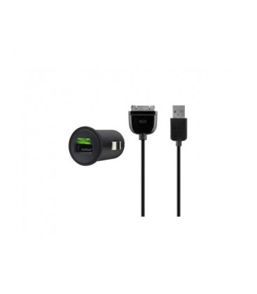Compatible Black Belkin iPad USB Car Charger, 2.1 AMP (F8Z689cw)