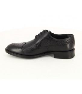 ProvoQ Erkek Siyah Deri Oxford Ayakkabı 5166083401200