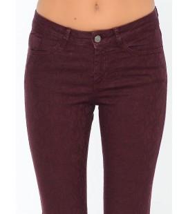 Lee Cooper Kadın Pantolon | Amy - Skinny 171 LCF 221004 Bordo