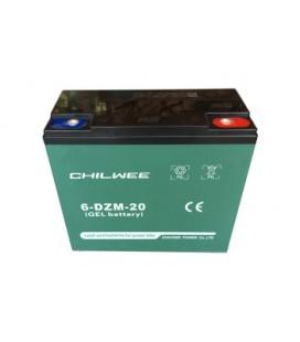 Chilwee 6-DZM-20 Elektrikli Bisiklet Aküsü