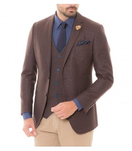 Karaca Erkek Slim Fit 6 Drop Ceket - Kahve 115402617