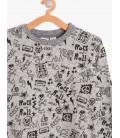 Koton Çocuk Desenli Sweatshirt 8KKB16429OK023