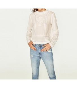 Zara Bayan Beyaz Gömlek 0881 074