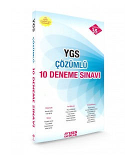 YGS Çözümlü 10 Deneme Sınavı Esen Yayınları