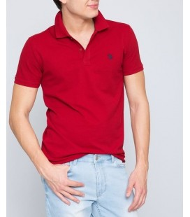 U.S.Polo Assn. Polo Yaka Tişört Bordo G081GL011.000.430923.VR014 T-Shirt