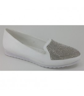 Guja Bayan Ayakkabı Beyaz Taşlı