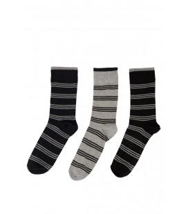 DeFacto Erkek 3'lü Çizgili Çorap H5317AZ