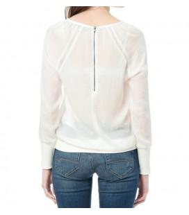 Mavi Uzun Kollu Kırık Beyaz Bluz  120623-20086