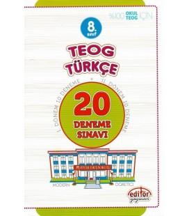 8. Sınıf TEOG Türkçe 20 Deneme Sınavı - Editör Yayınları