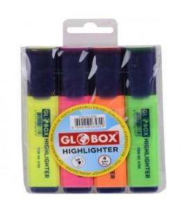 Globox Fosforlu Kalem 6582 4'lü Blister