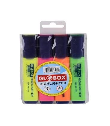 Globox Fosforlu Kalem 4'lü Blister