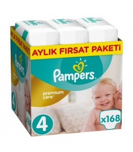 Prima Bebek Bezi Premium Care 4 Maxi Aylık Fırsat Paketi 168 Adet