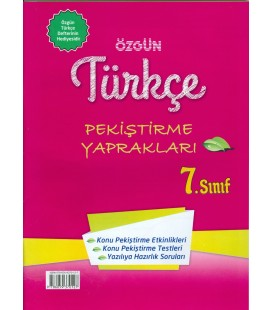 7.Sınıf Türkçe Defteri Özgün Yayınları