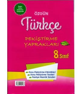 8.Sınıf Türkçe Akıllı Defter + Pekiştirme Kitabı - Özgün Yayınla