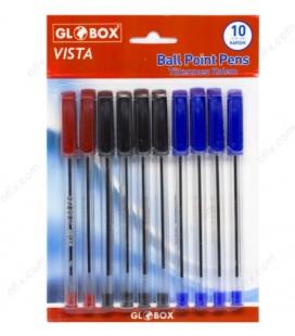Globox Vista Tükenmez Kalem 10 Adet Karışık Renk 6112