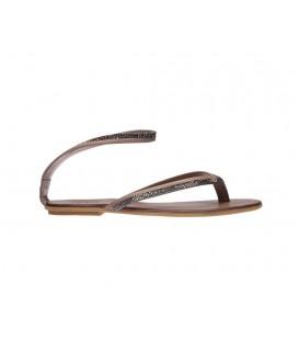 İnci Hakiki Deri Gri Kadın Sandalet 3594