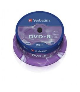 Verbatim DVD+R 4.7GB 16X Hızında 25'li