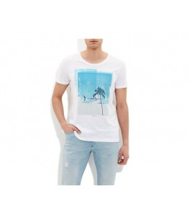 Mavi Baskılı Tişört 064259-620 Köpekbalıgı Baskılı Tişört