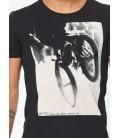 Mavi Baskılı Tişört 064313-900 Riders Baskılı Tişört Siyah