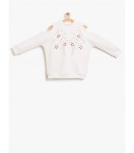 Koton Omuz Detaylı Sweatshirt 8KKG17832OK002