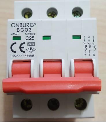 Onburg BG03 25A Otomatik Sigort