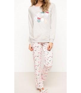 DeFacto Kadın Desenli Pijama Takımı H3899AZ PN262