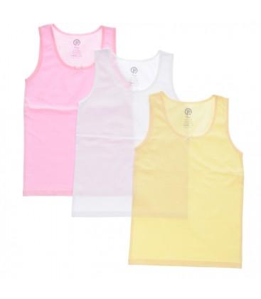 Panço Kız Çocuk Üçlü Kalın Askılı Atlet Renksiz 1715805
