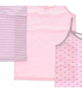 Panço Kız Çocuk Üçlü İnce Askılı Atlet Renksiz 1715800