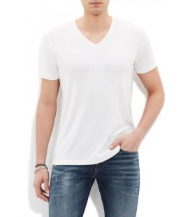 Blue V-Neck T-Shirt White 064485-620