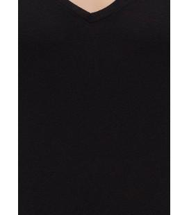 Mavi Siyah Erkek Tişört Normal Kesim, 064488-900