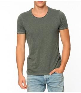063504-23086 Blue Shirt T-Shirt Army Green